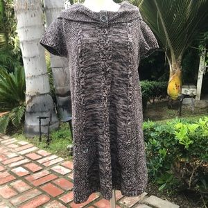Style & Co Brown Sweater Tunic Dress Size Medium